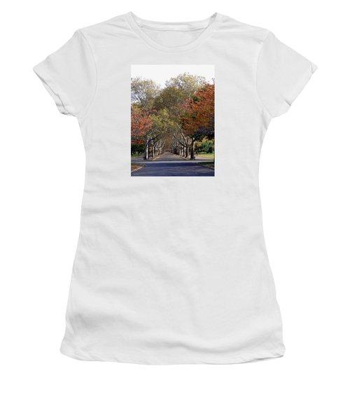 Fall At Corona Park Women's T-Shirt (Athletic Fit)