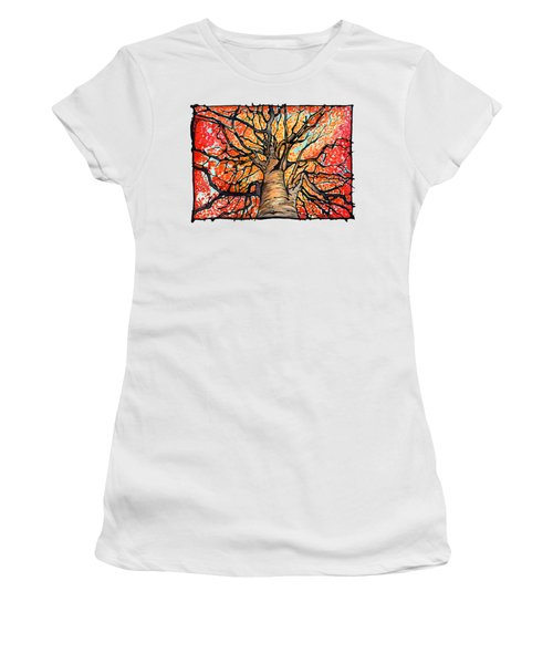 Fall Flush - Looking Up An Autumn Tree Women's T-Shirt