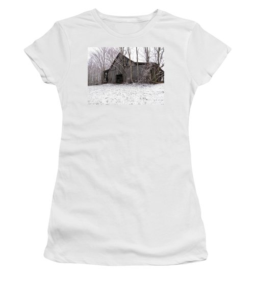 Falling Barn Women's T-Shirt (Athletic Fit)