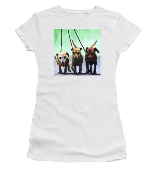 Family Ties - Chihuahuas Dog Painting Women's T-Shirt