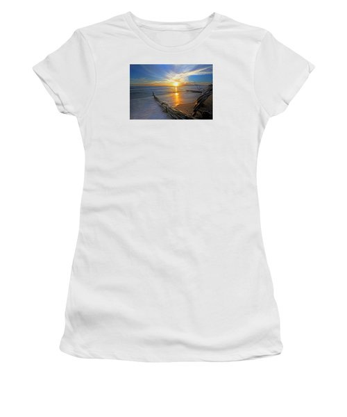 Far Out To Sea Women's T-Shirt (Junior Cut) by James Roemmling