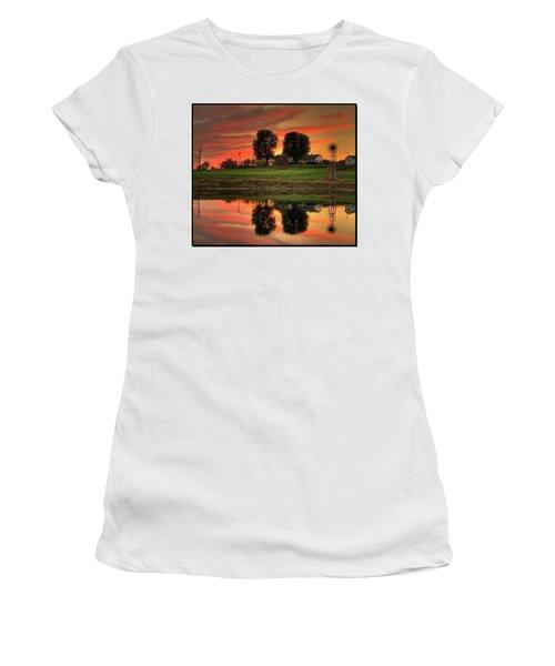 Farm Sunset Women's T-Shirt (Junior Cut)