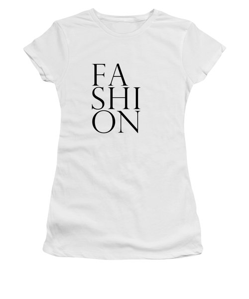 Fashion - Typography Minimalist Print - Black And White 01 Women's T-Shirt