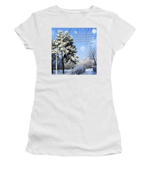 Fear Not Women's T-Shirt (Junior Cut) by Judi Saunders
