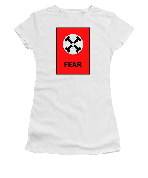 Fear Women's T-Shirt (Junior Cut) by Richard Reeve