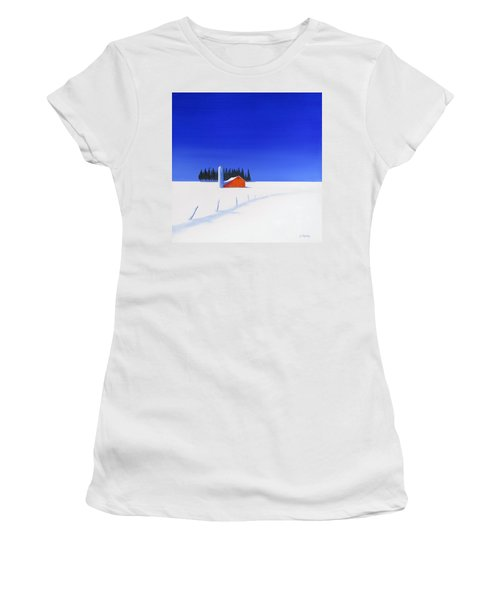 February Fields Women's T-Shirt (Junior Cut) by Jo Appleby