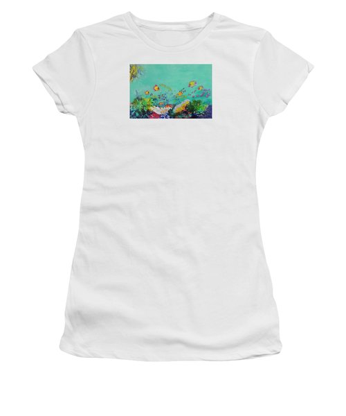 Feeding Time Women's T-Shirt (Junior Cut) by Lyn Olsen