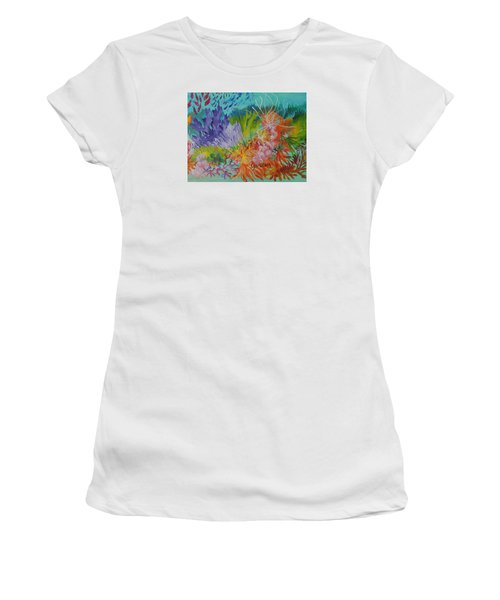 Feeding Time On The Reef #3 Women's T-Shirt (Junior Cut) by Lyn Olsen