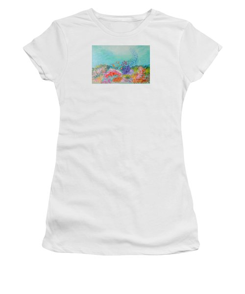 Feeding Time On The Reef Women's T-Shirt (Junior Cut) by Lyn Olsen