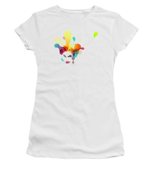 Female Face Abstract Women's T-Shirt