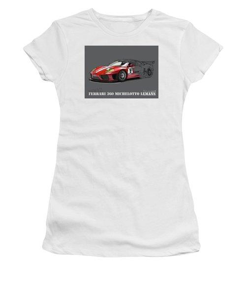 Ferrari 360 Michelotto Le Mans Race Car. Women's T-Shirt