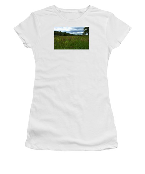 Women's T-Shirt (Junior Cut) featuring the photograph Field Of Color by Bruce Carpenter