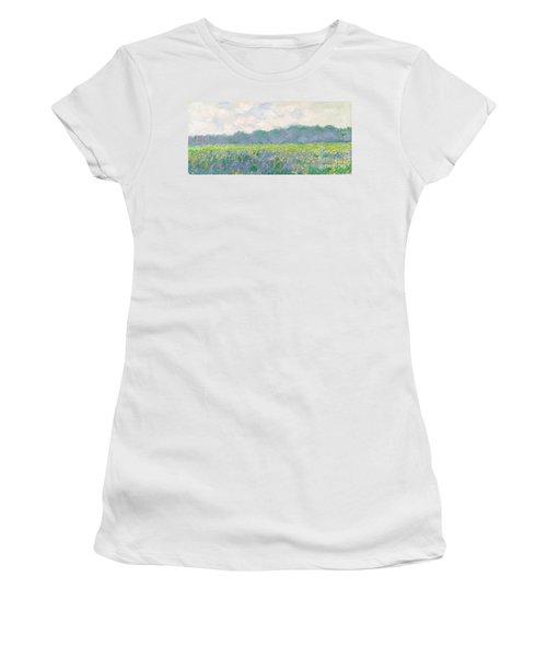 Field Of Yellow Irises At Giverny Women's T-Shirt