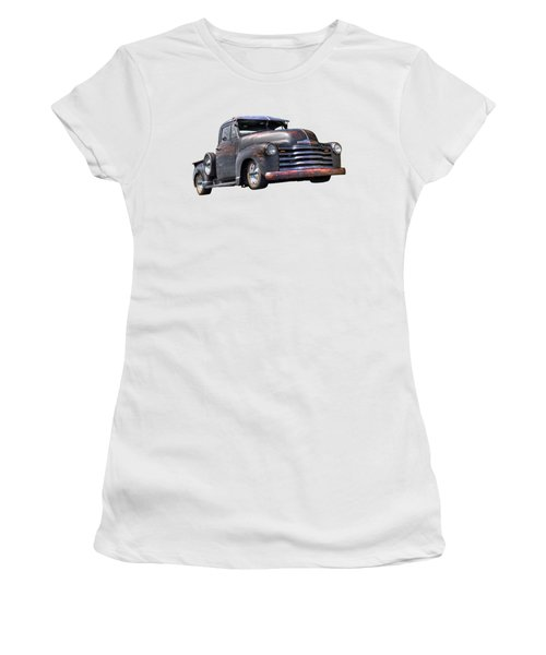 Fifties Rust - 1951 Chevy Women's T-Shirt (Athletic Fit)