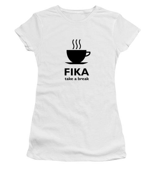 Fika - Take A Break Women's T-Shirt (Athletic Fit)