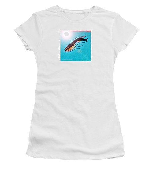 Finback Diving Through Krill Women's T-Shirt