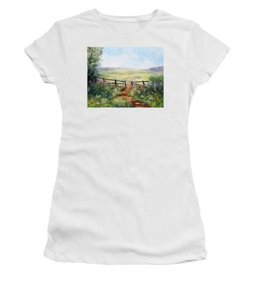 Finding Pasture Women's T-Shirt (Athletic Fit)