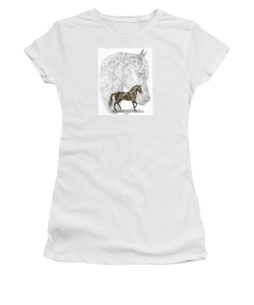 Fine Steps - Paso Fino Horse Print Color Tinted Women's T-Shirt (Athletic Fit)