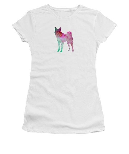 Finnish Spitz 02 In Watercolor Women's T-Shirt