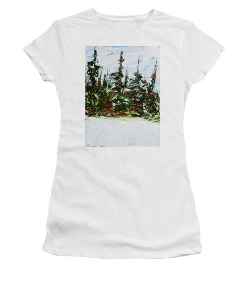 Fir Trees - Spring Thaw Women's T-Shirt (Athletic Fit)