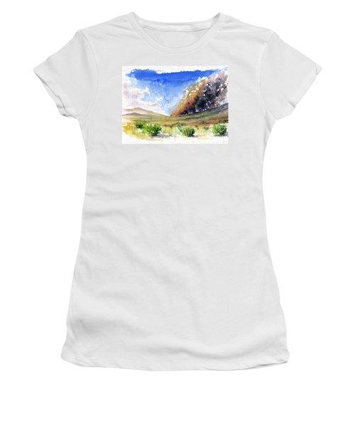 Fire In The Desert 1 Women's T-Shirt (Junior Cut) by John D Benson