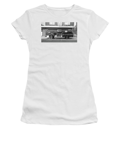 Fire Truck Women's T-Shirt (Athletic Fit)