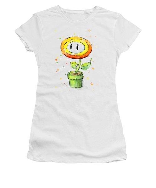 Fireflower Watercolor Women's T-Shirt