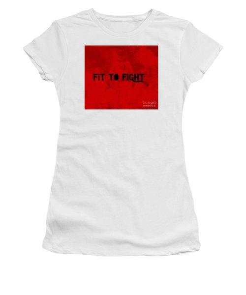 Fireman In Red Women's T-Shirt (Junior Cut) by Megan Dirsa-DuBois