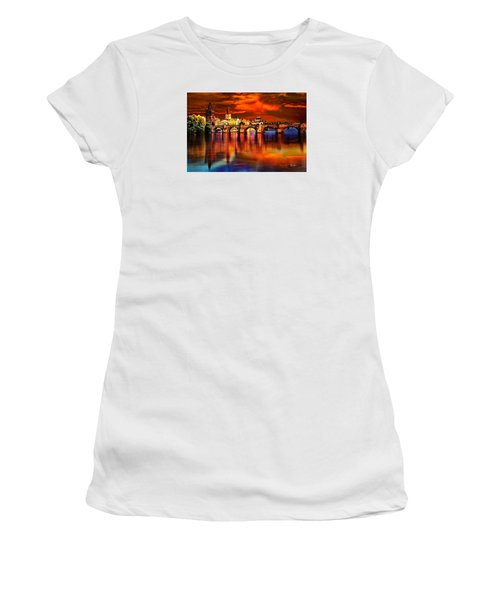 Fiery Prague Sunset Women's T-Shirt