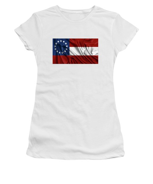 First Flag Of The Confederate States Of America - Stars And Bars 1861-1863 Women's T-Shirt