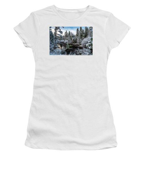 First Snow On Grand Marais Creek Women's T-Shirt