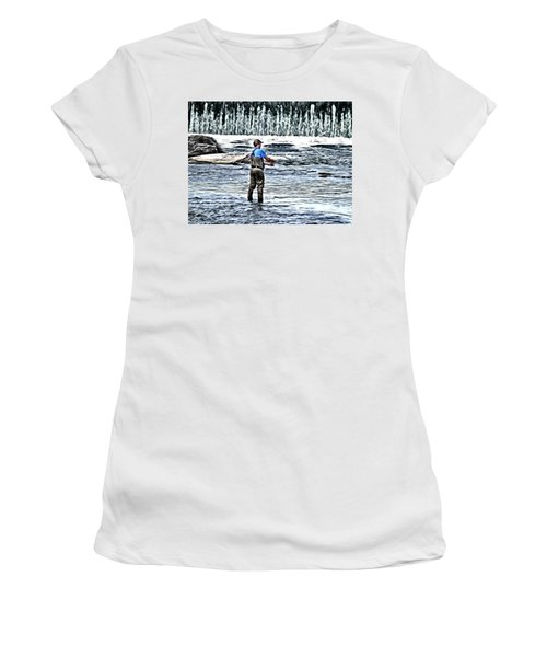 Fisherman On The River Women's T-Shirt