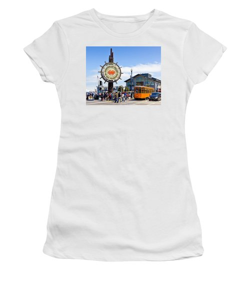 Fishermans Wharf - San Francisco Women's T-Shirt (Athletic Fit)