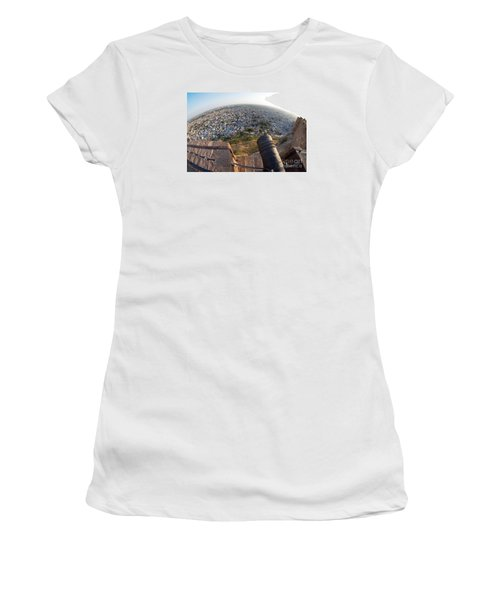 Women's T-Shirt (Athletic Fit) featuring the photograph Fisheye View Of Jodhpur by Yew Kwang