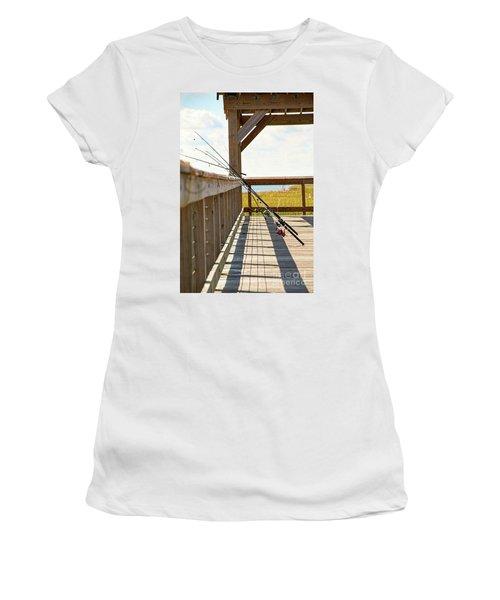 Fishing At Shem Creek Women's T-Shirt (Athletic Fit)