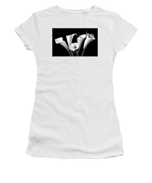 Five Black And White Calla Lilies Women's T-Shirt