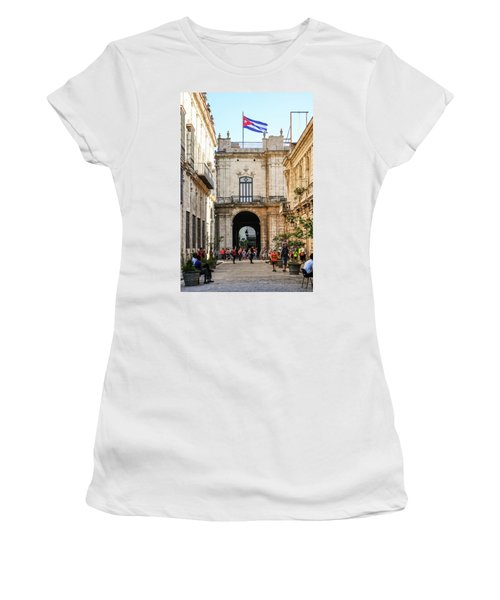 Flag Of Cuba Women's T-Shirt (Athletic Fit)