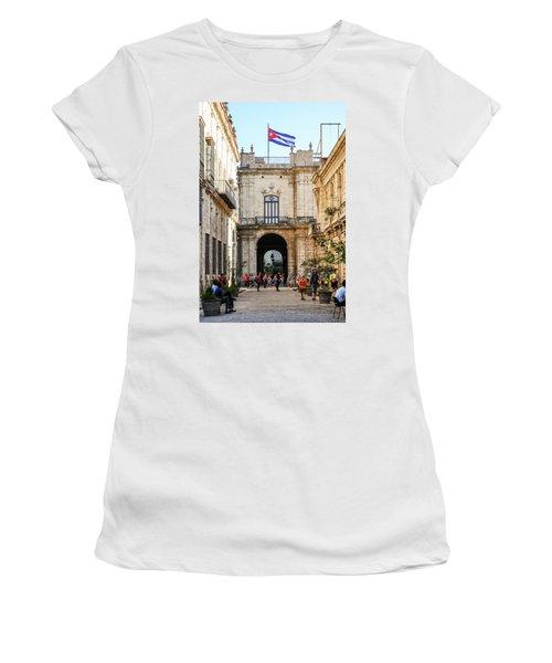 Flag Of Cuba Women's T-Shirt (Athletic Fit)