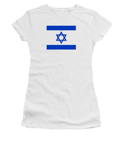 Flag Of Israel Authentic Version Women's T-Shirt (Junior Cut) by Bruce Stanfield