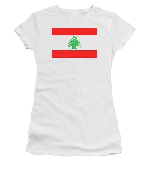 Flag Of Lebanon. Women's T-Shirt