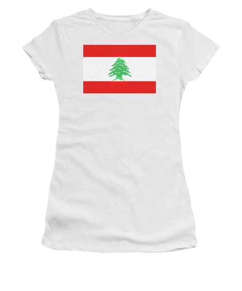 Flag Of Lebanon Wall Women's T-Shirt