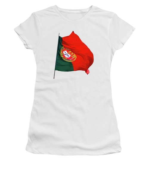 Flag Of Portugal Women's T-Shirt (Junior Cut) by Menega Sabidussi
