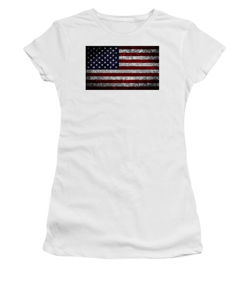 Flag Of The United States Women's T-Shirt (Junior Cut) by Martin Capek