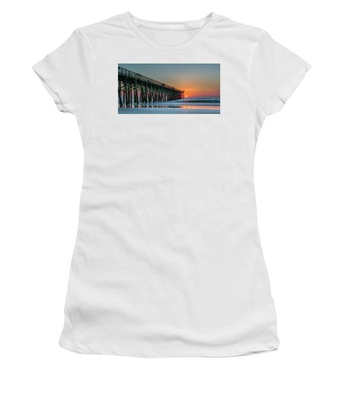 Flagler Pier Sunrise Women's T-Shirt