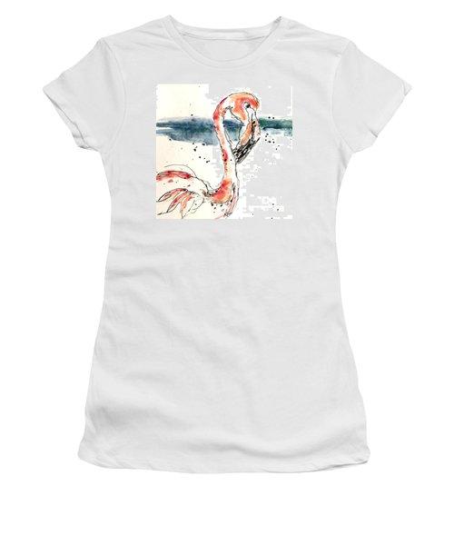 Flamingo Pool Women's T-Shirt