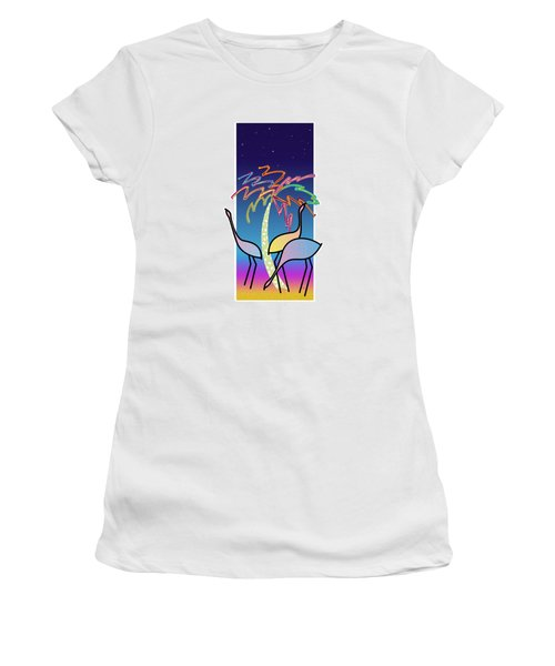 Flamingos Women's T-Shirt (Athletic Fit)
