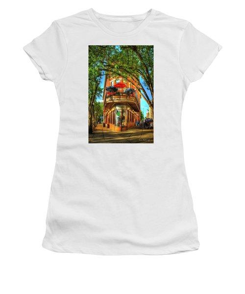 Flatiron Style Pickle Barrel Building Chattanooga Tennessee Women's T-Shirt (Junior Cut) by Reid Callaway