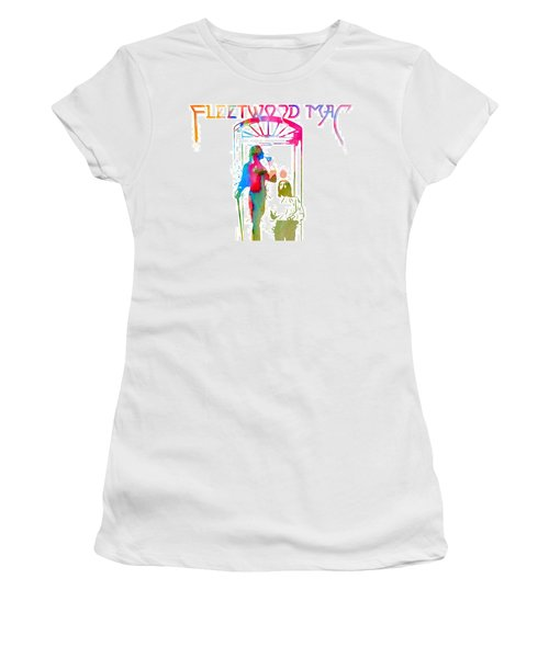 Women's T-Shirt featuring the digital art Fleetwood Mac Album Cover Watercolor by Dan Sproul