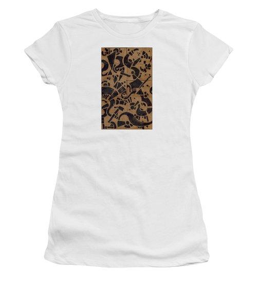 Flipside 1 Panel E Women's T-Shirt (Junior Cut) by Joseph A Langley