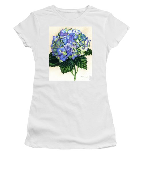 Women's T-Shirt (Junior Cut) featuring the painting Floral Favorite by Barbara Jewell